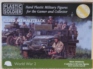 Plastic Soldier V15016 15mm WW2 M3 Halftrack with Crew